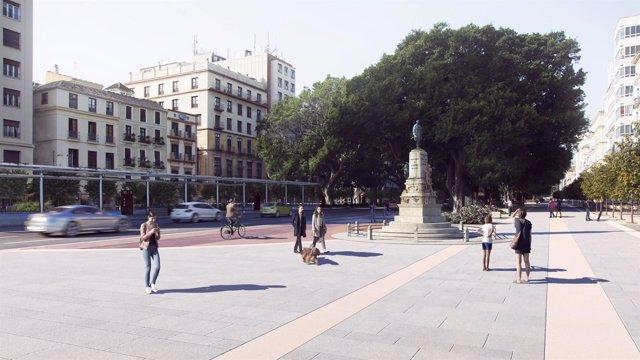 Infografía renovación Alameda Principal. Málaga