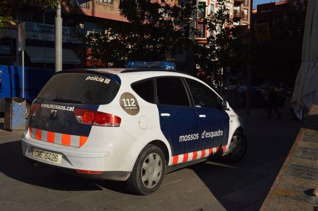 Cotxe dels Mossos d'Esquadra a Lleida