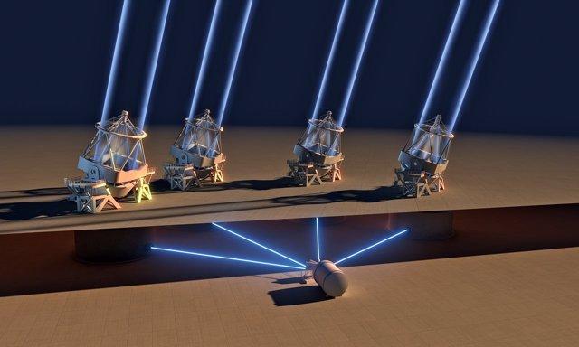El instrumento ESPRESSO ve su primera luz con las cuatro unidades de telescopio