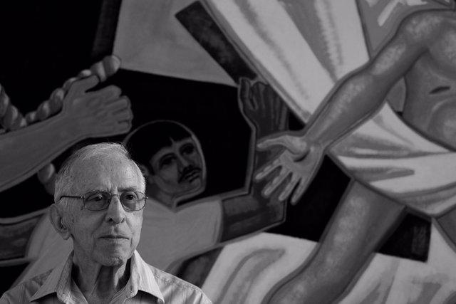 Pere Casaldàliga en una fotografia de Joan Guerrero al Brasil