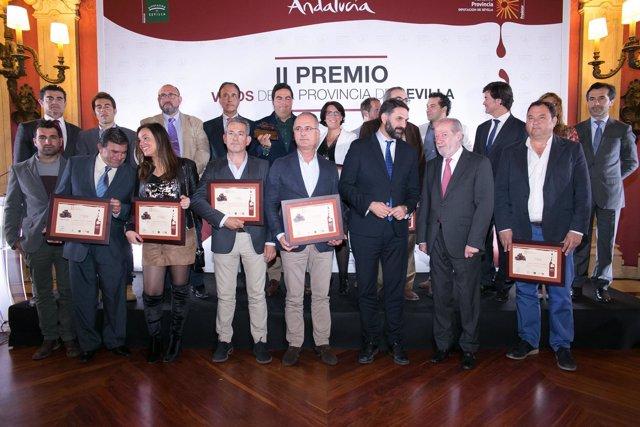 Premiados en el II concurso de 'Vinos de la provincia de Sevilla'