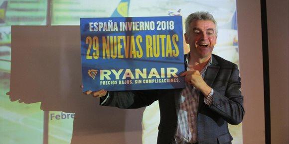 6. Ryanair lanzará 29 nuevas rutas desde España en invierno, entre ellas 13 rutas desde Sevilla