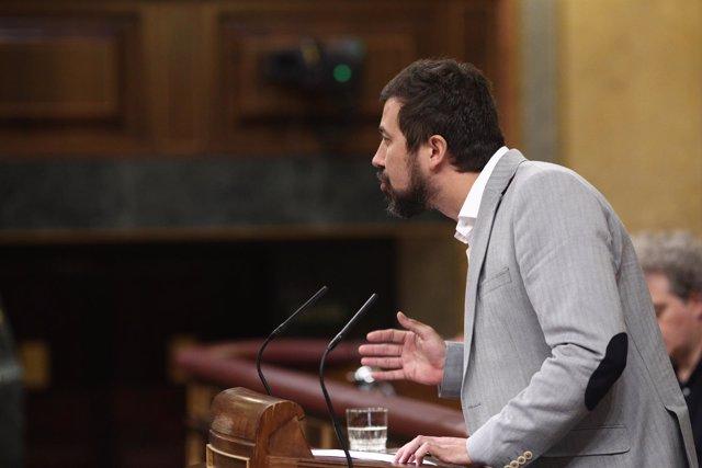 Antonio Gómez-Reina en el debate de la moción de censura