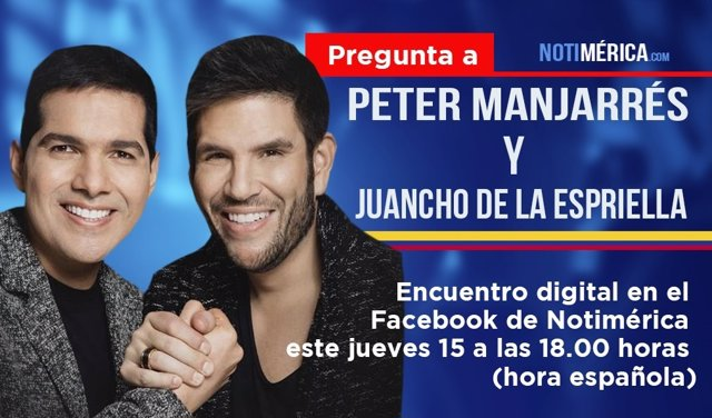 Peter Manjarrés y Juancho de la Espriella