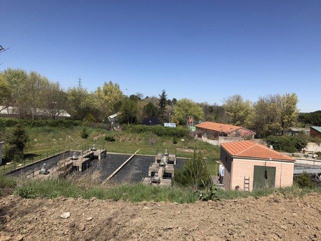 La depuradora de Húmera de Pozuelo de Alarcón (Madrid)