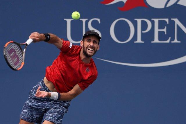 El tenista español Adrián Menéndez en el US Open
