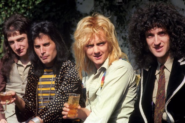 File photo dated 08/09/1976 of Queen as three previously unreleased tracks by th