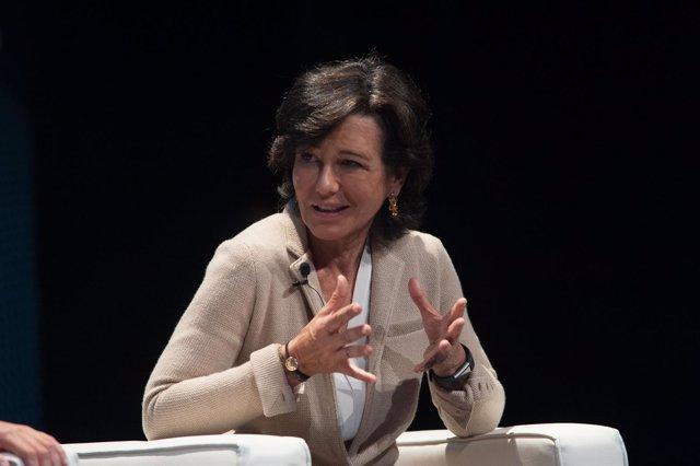 Ana Botín (Santander) en el Congreso de Industria Conectada 4.0