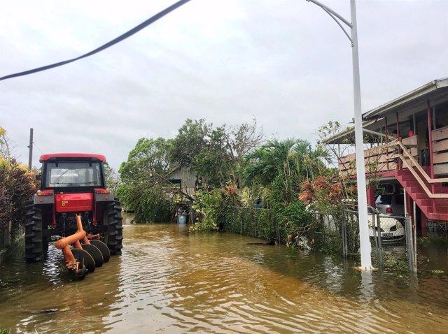 Efectos del ciclón 'Gita' en Tonga