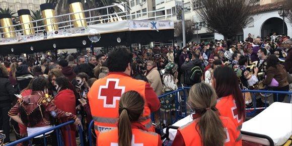 3. El dispositivo de Cruz Roja en el Carnaval de Badajoz acaba con 161 asistencias y 29 derivados a centros sanitarios