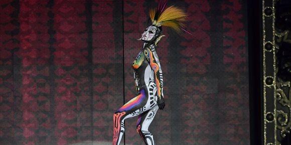 7. La obra Tambora gana el Concurso de Maquillaje Corporal del Carnaval de Las Palmas de Gran Canaria