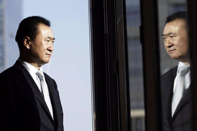 Wang Jianlin, chairman of Dalian Wanda Group, poses for a photo during an interv