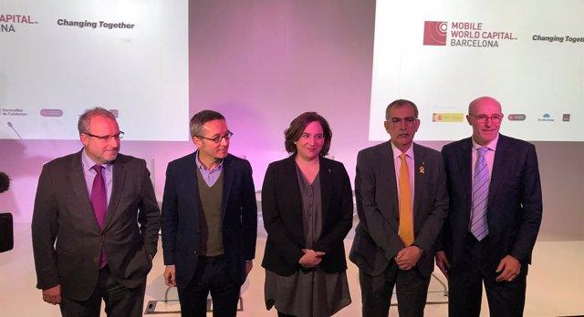 C.Serrallonga, J.M.Lassalle, A.Colau, P.Villòria y C.Grau