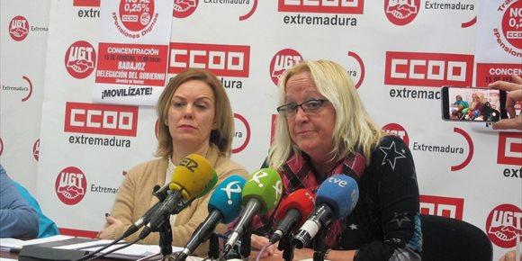 10. CCOO y UGT Extremadura se concentrarán este jueves en Badajoz para defender el sistema público de pensiones