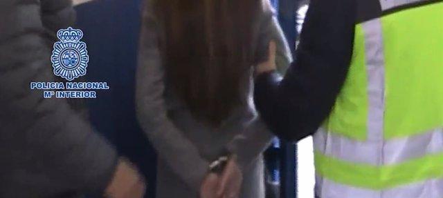 Captura del video de la Policía con la detención de Maje