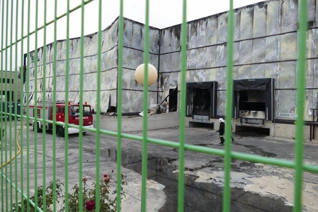 Estado en el que quedó la planta de Ornua (Ávila)