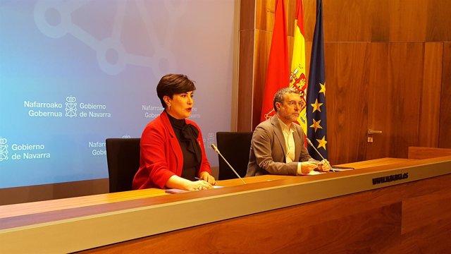 María Solana y Miguel Laparra.