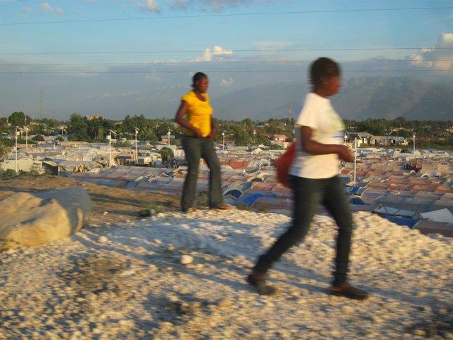 Campos de refugiados en Haití