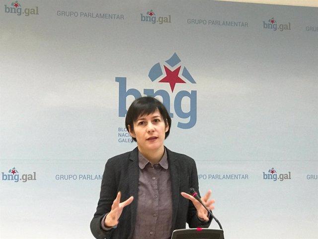 Ana Pontón, portavoz nacional do BNG, en rolda de prensa
