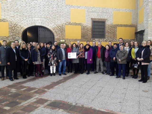 Celebración del Premio Educaciudad concedido por la Junta a Andújar.