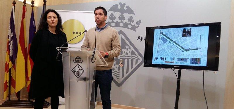 El nuevo diseño de la calle Rafael Rodríguez Méndez de Palma dará más espacio a peatones y ciclistas