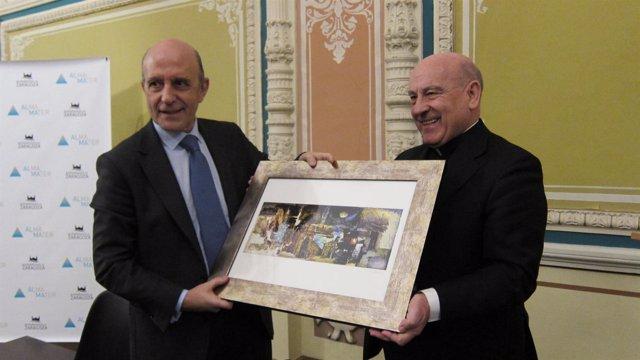 José Antonio Zarzalejos y monseñor Vicente Jiménez