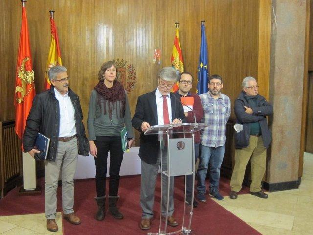 El alcalde de Zaragoza comparece tras el consejo de administración de Ecociudad