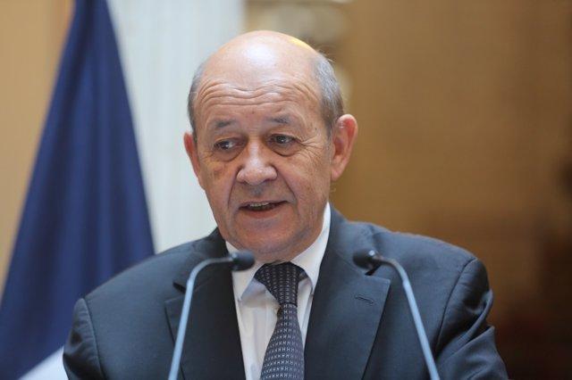 El ministro para Europa y de Asuntos Exteriores de Francia, Jean-Yves Le Drian