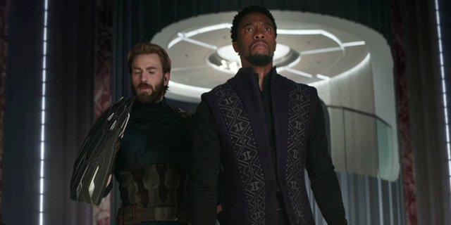 Black Panther y Capitán América en Vengadores: Infinity War