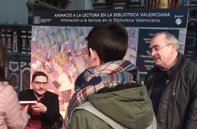 Xavier Aliaga en la Biblioteca Valenciana