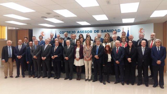 Primera reunión del nuevo Consejo Asesor de Sanidad