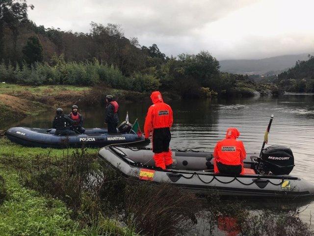 Cuarto día de procura dun pescador desaparecido no Río Miño.