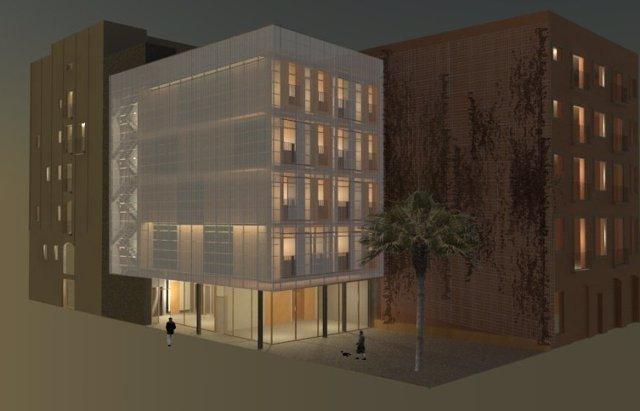 Edificio del proyecto de construcciones prefabricadas de Barcelona