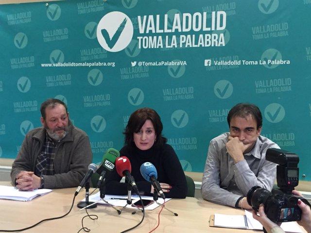 La concejal de VTLP María Sánchez, en rueda de prensa