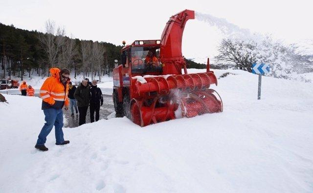 Mazón temporal nieve
