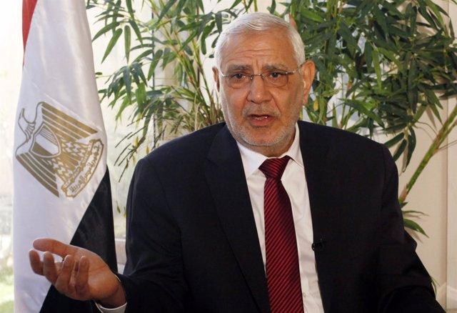 El excandidato a la Presidencia de Egipto Abdel Moneim Abul Futu