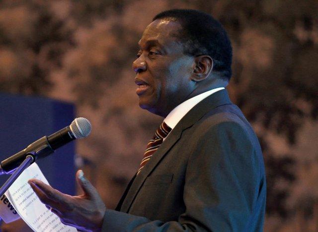 El presidente de Zimbabue, Emmerson Mnangagwa en Harare, la capital de país