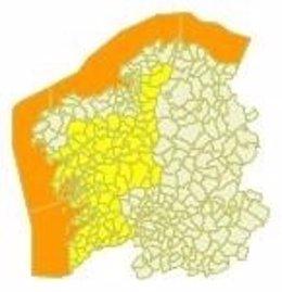 Alerta en el litoral gallego el 15 de febrero