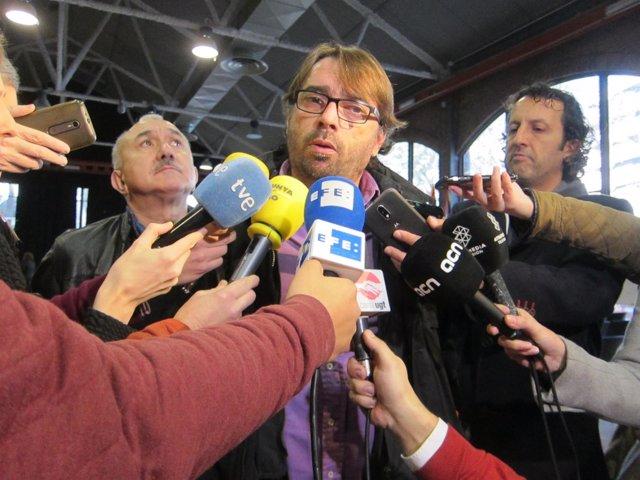 Camil Ros y Josep Maria Àlvarez (UGT)