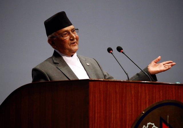 Foto de archivo del primer ministro de Nepal, Sharma Oli.