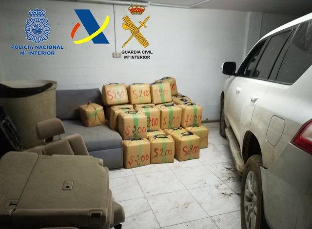 """""""Aprehendidos 2.500 Kilogramos De Hachís En Una Finca En La Urbanización De Sant"""
