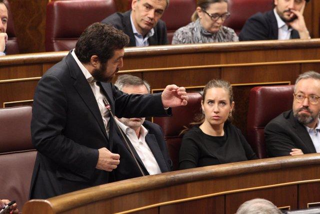Miguel Gutiérrez en la sesión de control al Gobierno en el Congreso