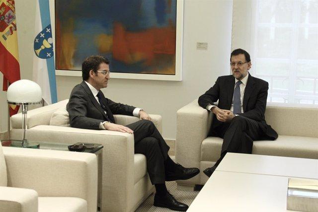 Mariano Rajoy y Feijóo, en la Moncloa