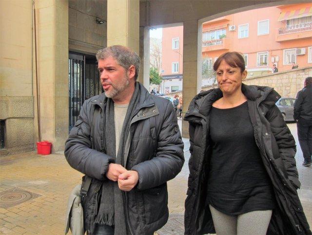 Unai Sordo, a su llegada a la asamblea de delegados de CCOO en Jaén.