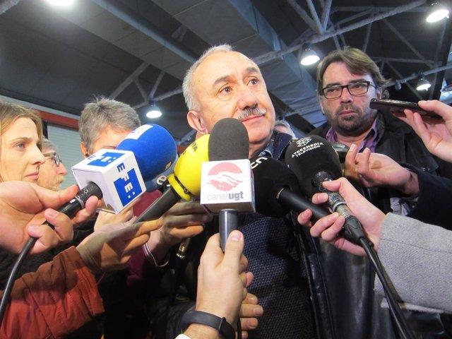 Josep Maria Àlvarez y Camil Ros (UGT)