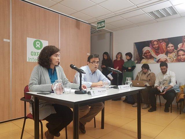 Ruedda de prensa Oxfam Intermón en Madrid