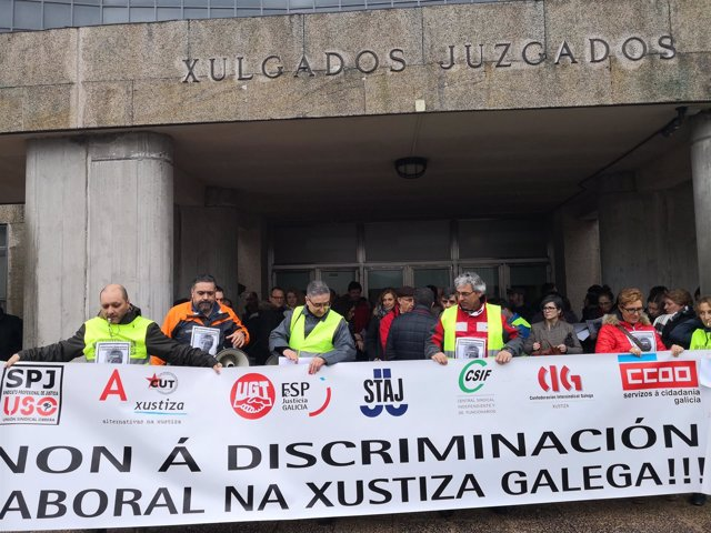 Manifestación de la justicia gallega en Santiago