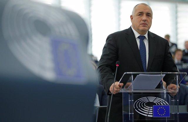 Foto de archivo del primer ministro búlgaro Borissov en el Parlamento Europeo