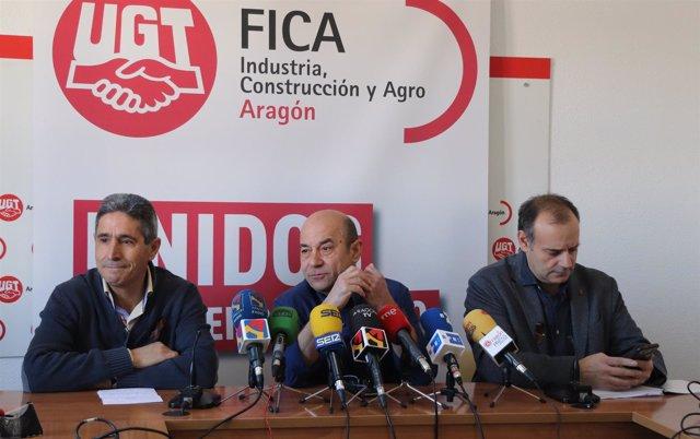 José Carlos Jimeno, Daniel Alastuey y José Juan Arcéiz.