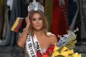 La modelo colombiana Ariadna Gutiérrez le dedica unas palabras al presentador que 'le quitó' la corona de Miss Universo